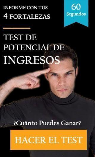 Imagen de hombre invitando a hacer el test de ingresos potenciales